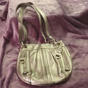 B Makowsky Leather Crossbody / Shoulder Purse